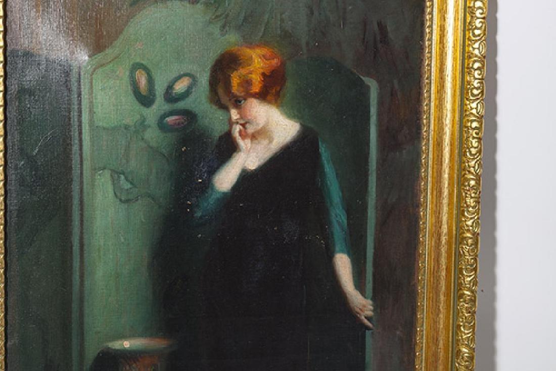 Marial Plaza Ferrand (1876-1948) Chile, Oil - 5