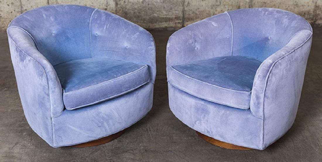 Milo Baughman Swivel Chairs