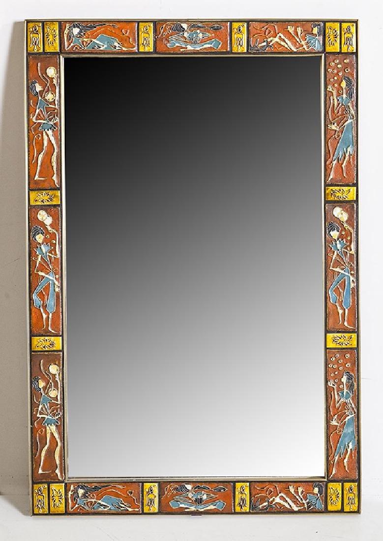 Mid Century Tile Mirror