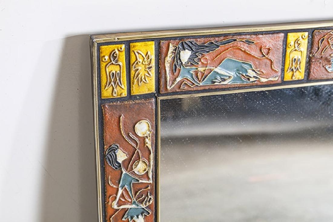Mid Century Tile Mirror - 2