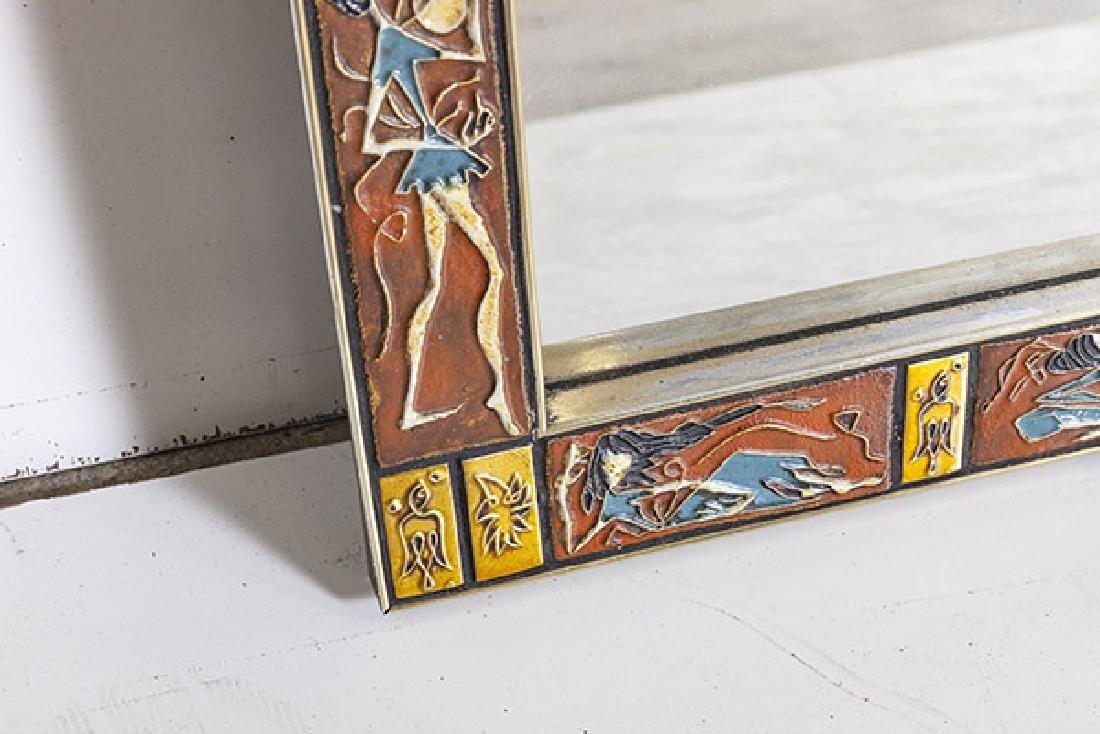 Mid Century Tile Mirror - 3