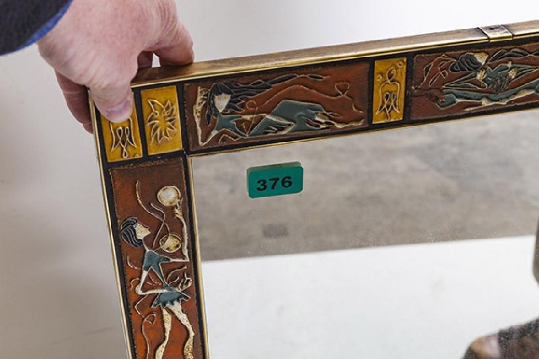 Mid Century Tile Mirror - 9