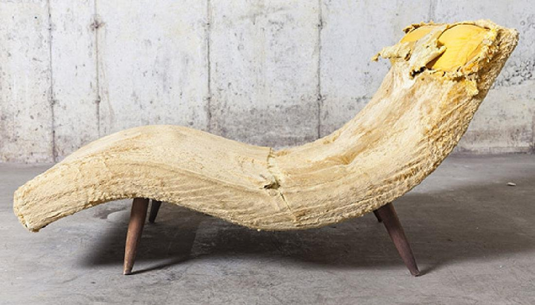"""Adrian Pearsall """"Wave"""" Chaise"""