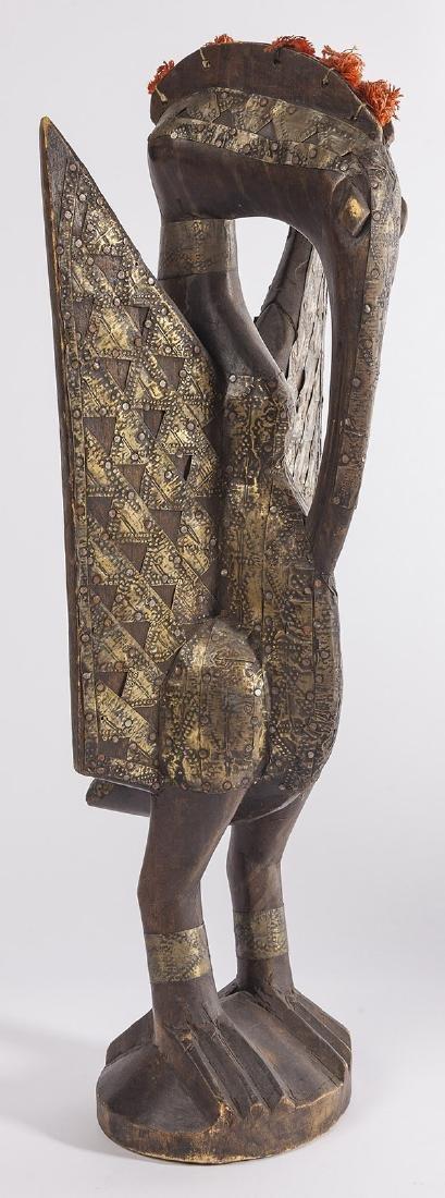 Antique Senufo Porplanong African Hornbill Statue