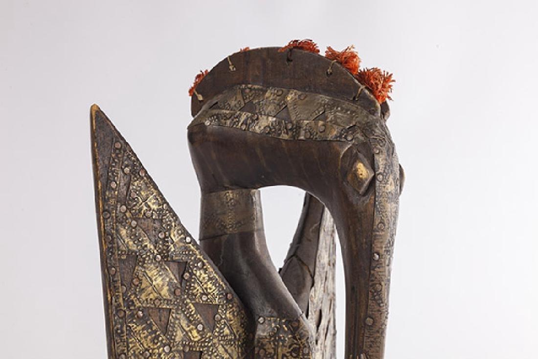 Antique Senufo Porplanong African Hornbill Statue - 2