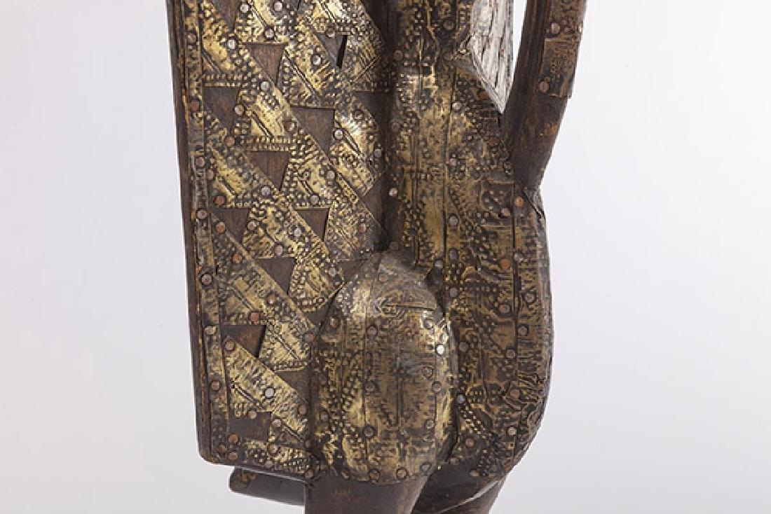 Antique Senufo Porplanong African Hornbill Statue - 3