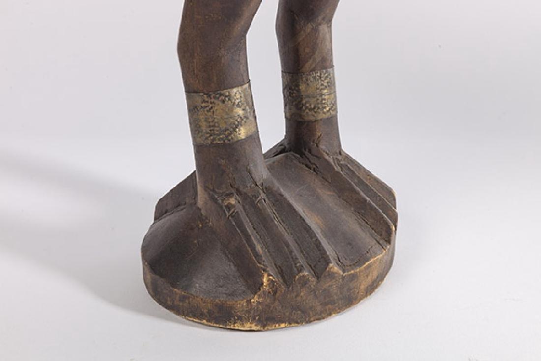 Antique Senufo Porplanong African Hornbill Statue - 4