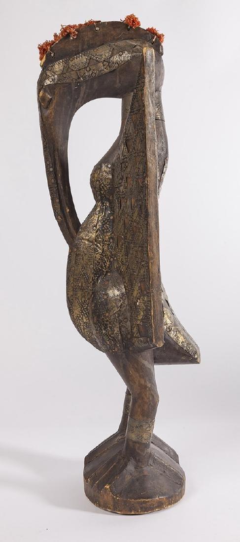 Antique Senufo Porplanong African Hornbill Statue - 7