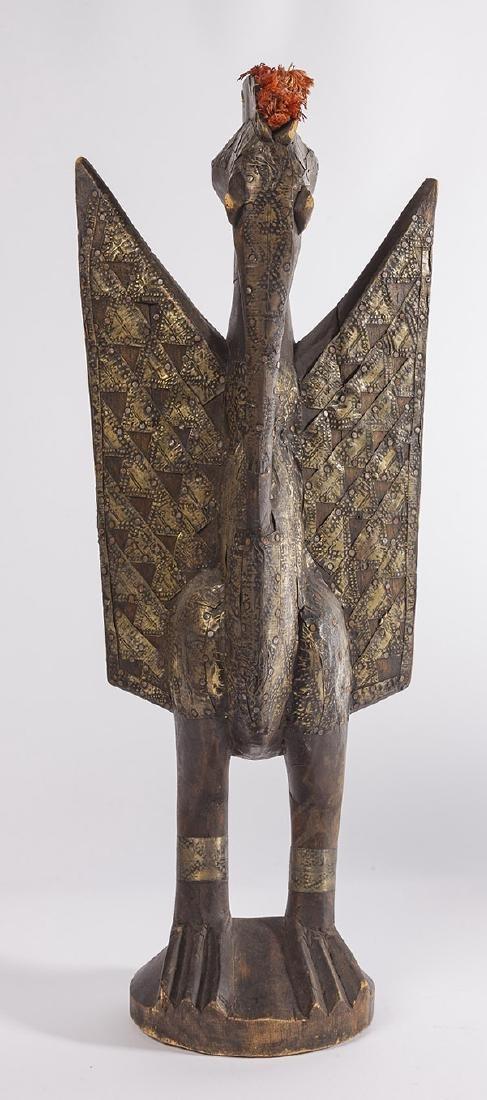 Antique Senufo Porplanong African Hornbill Statue - 8