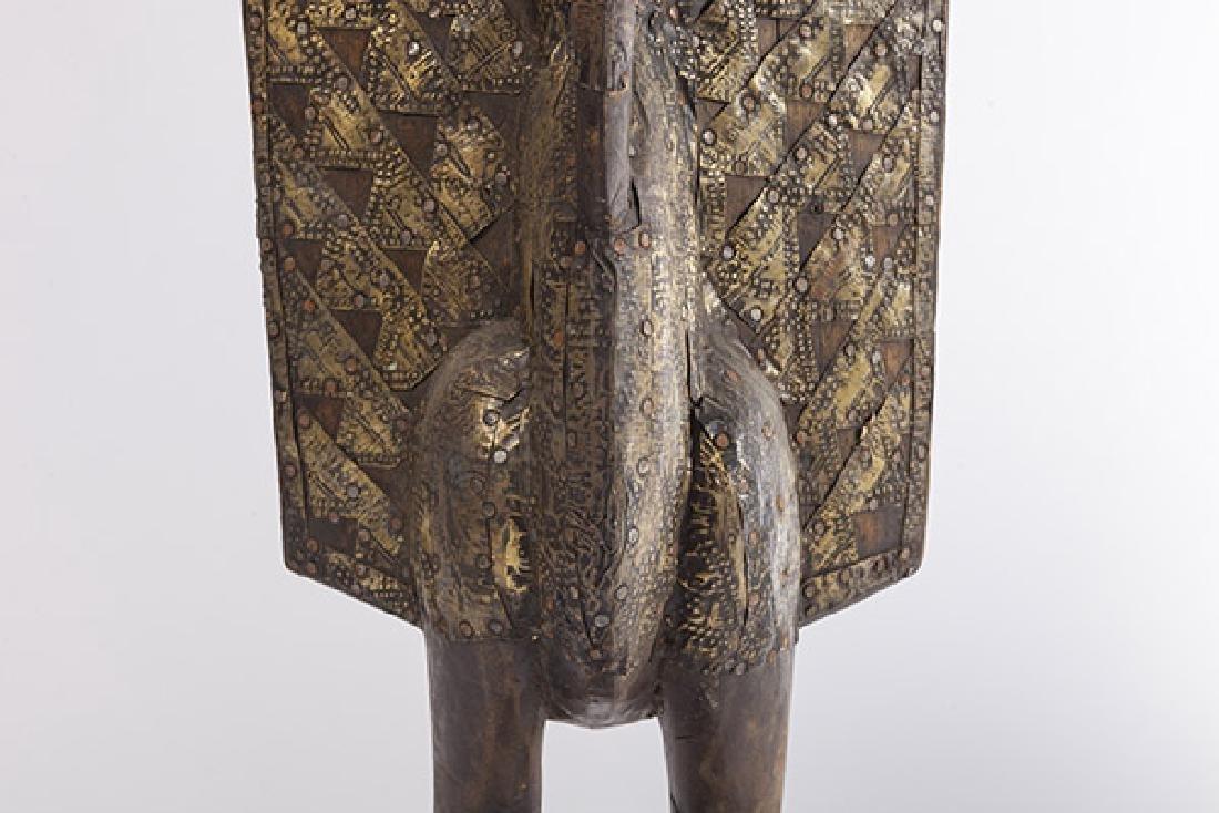 Antique Senufo Porplanong African Hornbill Statue - 9