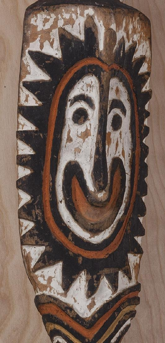 Carved African Relief Staff - 2