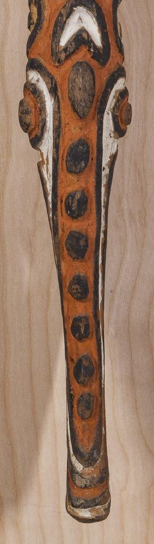 Carved African Relief Staff - 3