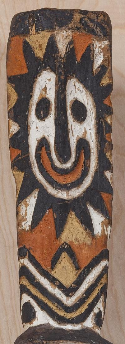 Carved African Relief Staff - 4