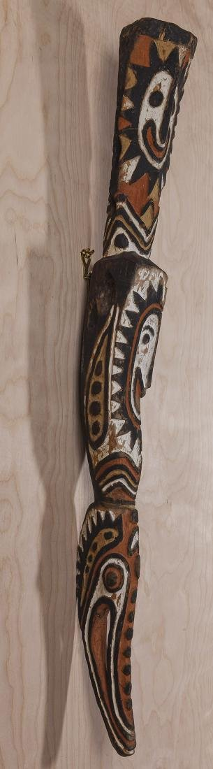 Carved African Relief Staff - 5