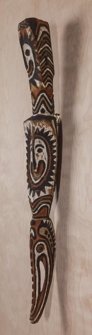 Carved African Relief Staff - 6