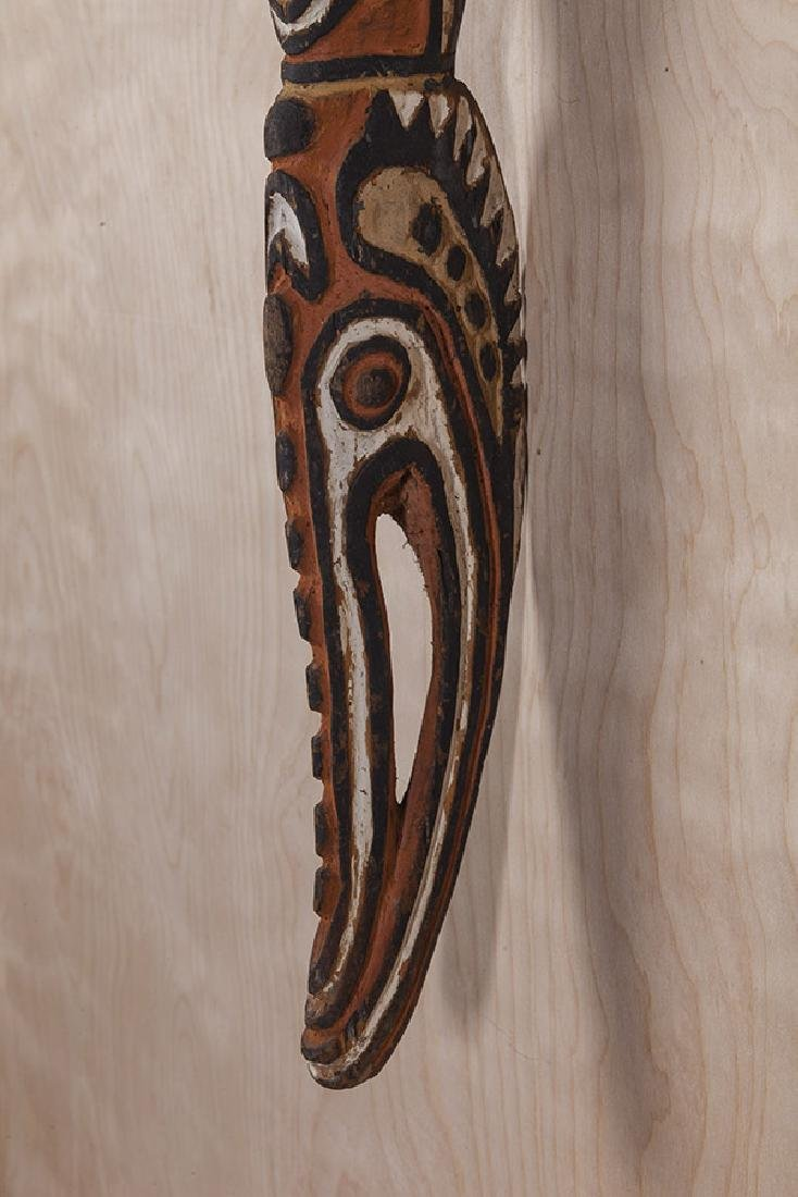 Carved African Relief Staff - 7