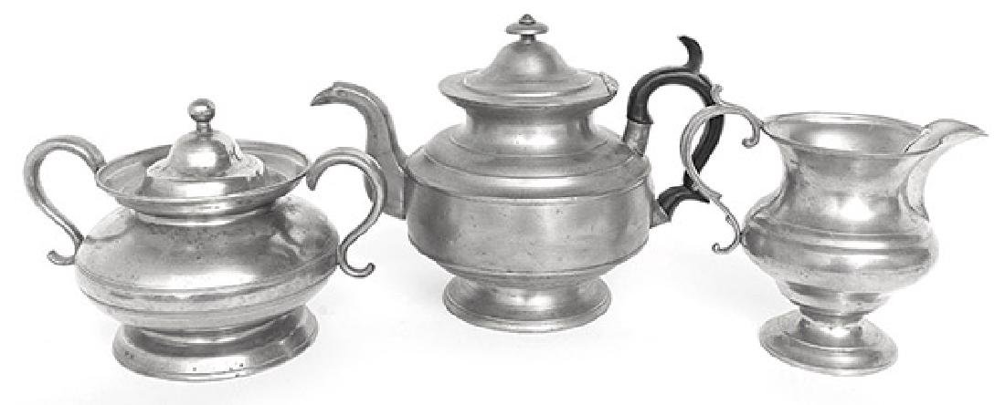 Three Pieces of Sellew Pewter