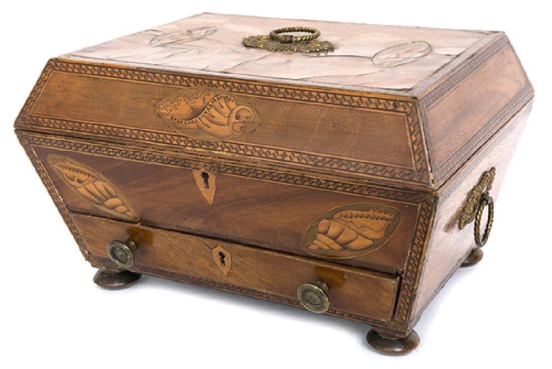 Fine Period Inlaid Sewing Box