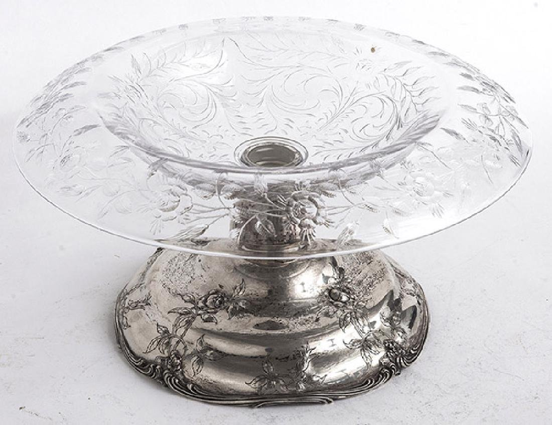 Cut Glass & Gorham Sterling Table Center Piece