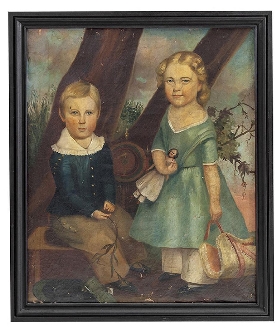 N.Y. Folk Art Painting Artist Unknown