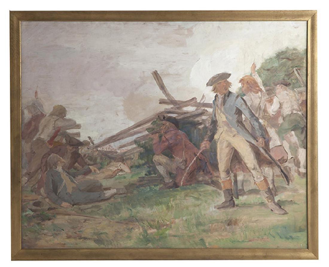 John Ward Dunsmore (1856-1945) Oil, (Mich, Mass,