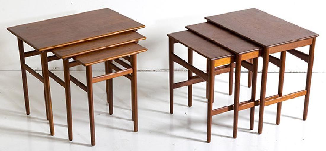 Hans J. Wegner and Severin Hansen Nesting Tables
