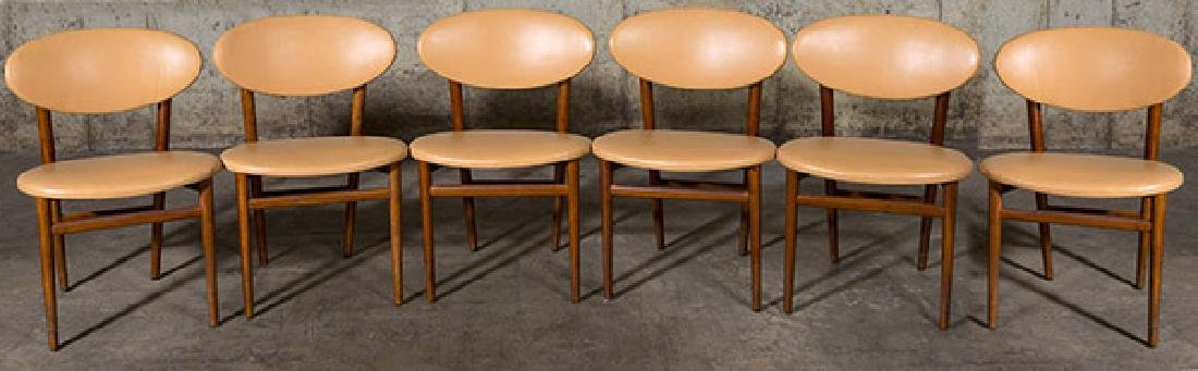 Grete Jalk Dining Chairs, set of six