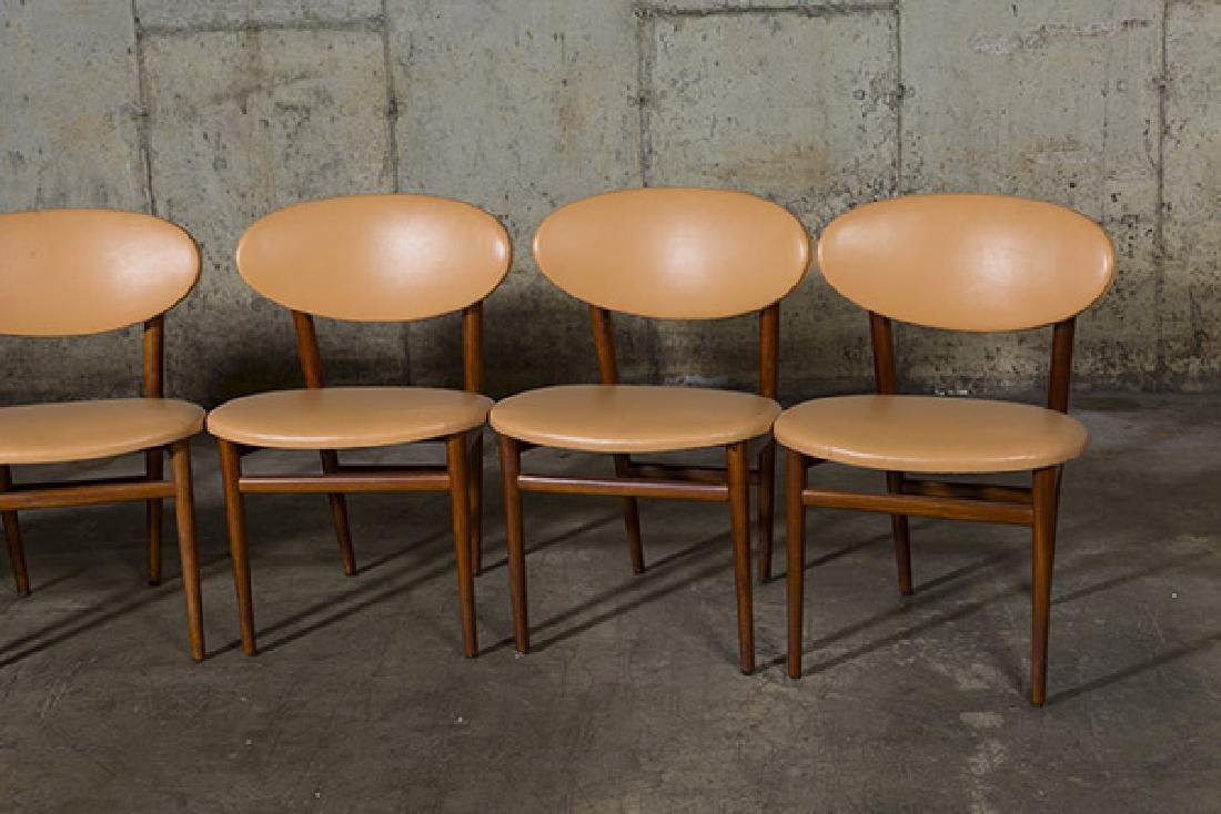Grete Jalk Dining Chairs, set of six - 3