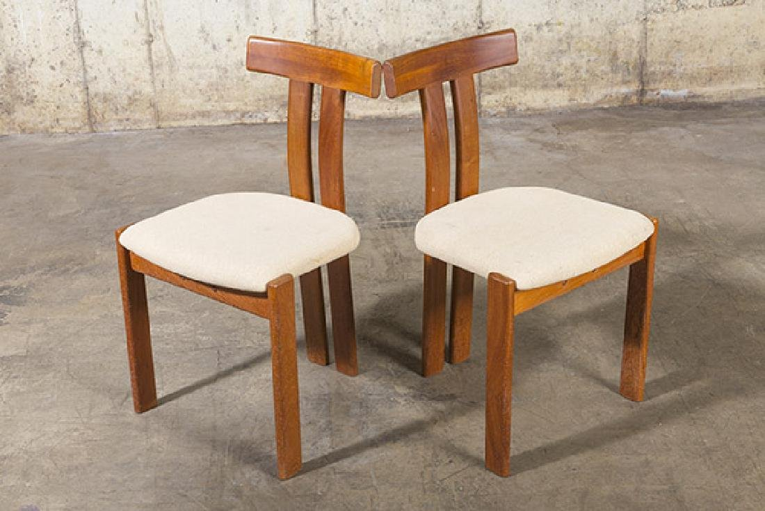 """Danish """"T"""" back Dining Chairs - 10"""