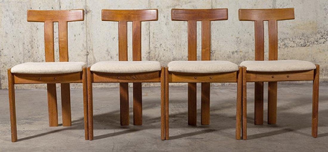 """Danish """"T"""" back Dining Chairs"""