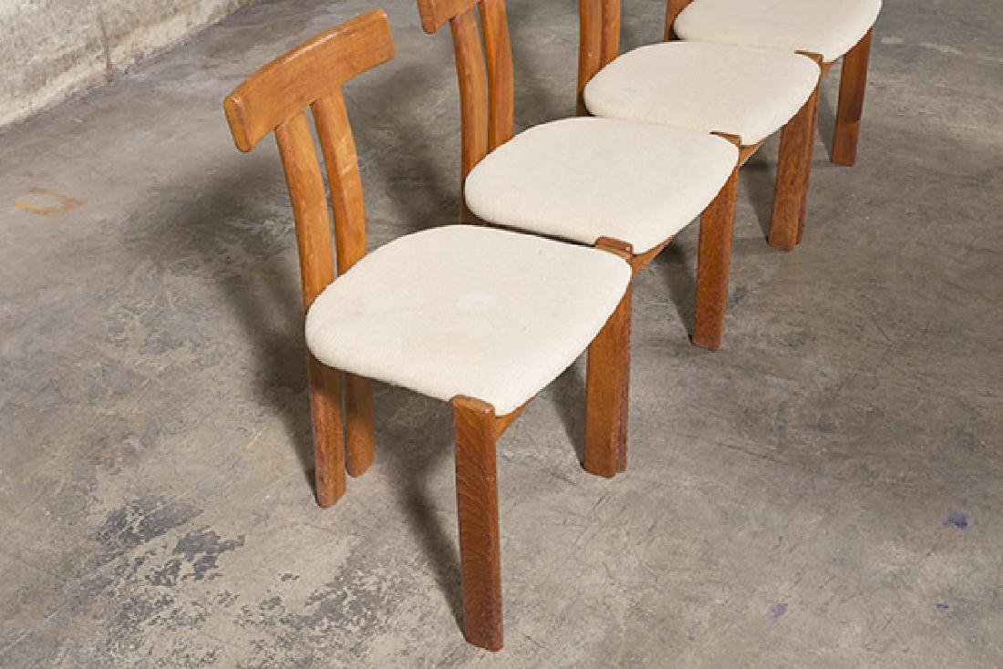 """Danish """"T"""" back Dining Chairs - 2"""