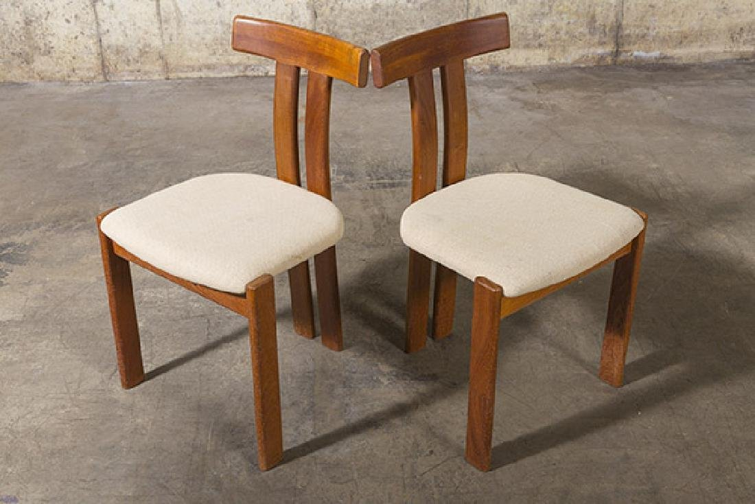 """Danish """"T"""" back Dining Chairs - 3"""