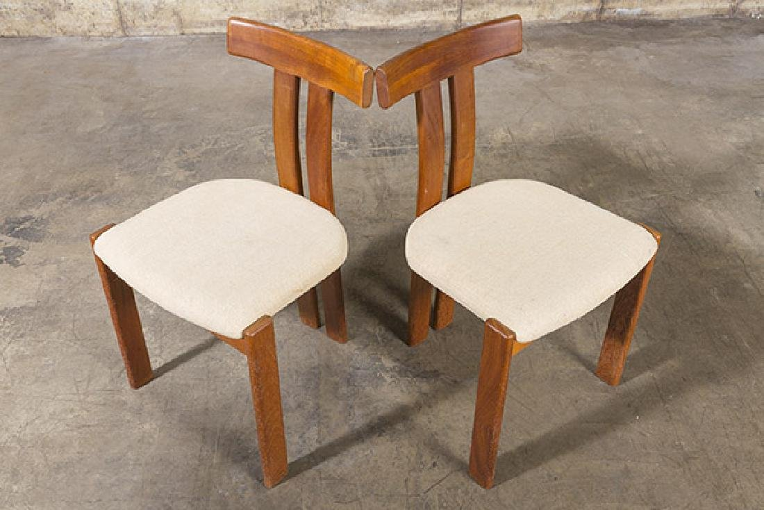 """Danish """"T"""" back Dining Chairs - 4"""