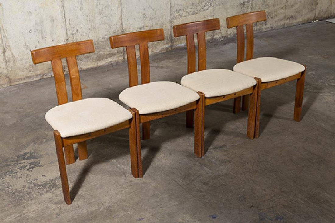 """Danish """"T"""" back Dining Chairs - 8"""