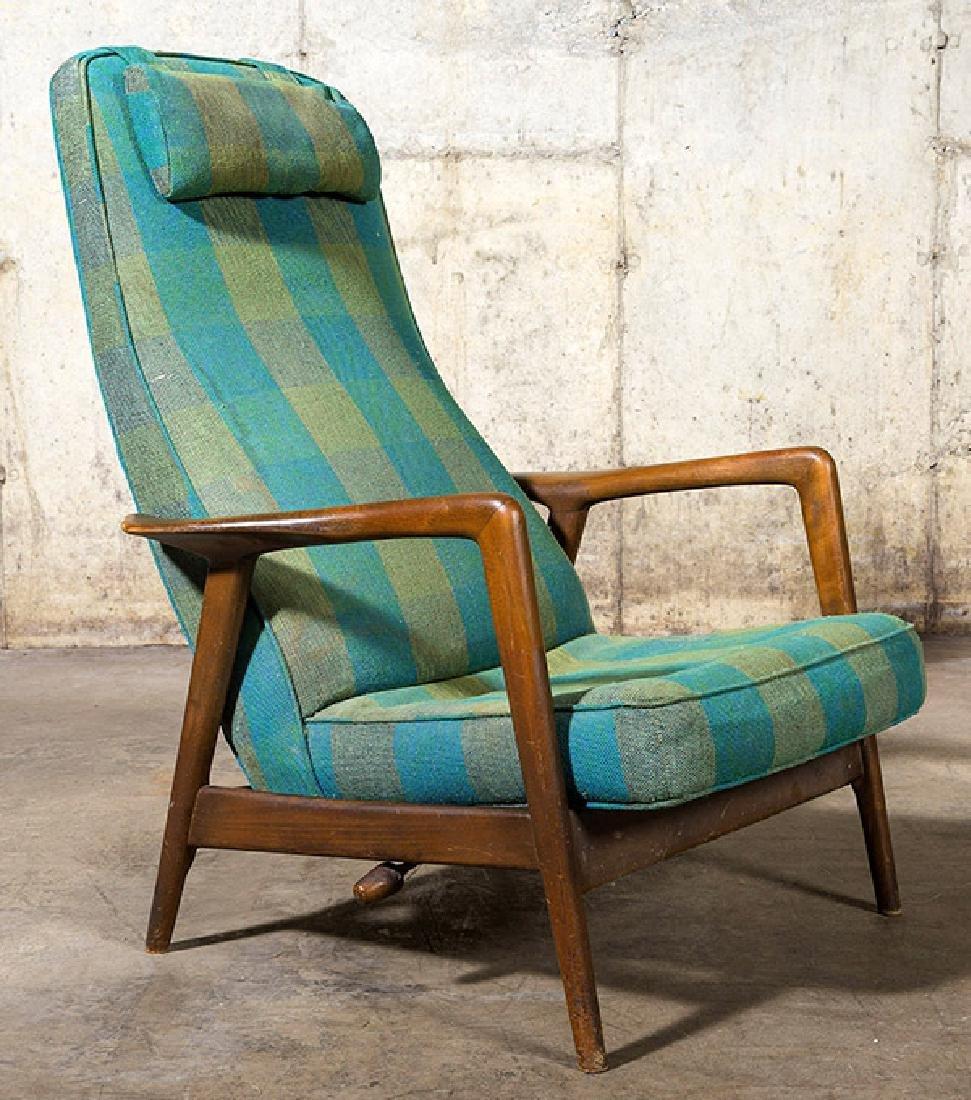 IB Kofod Larsen Reclining Lounge Chair