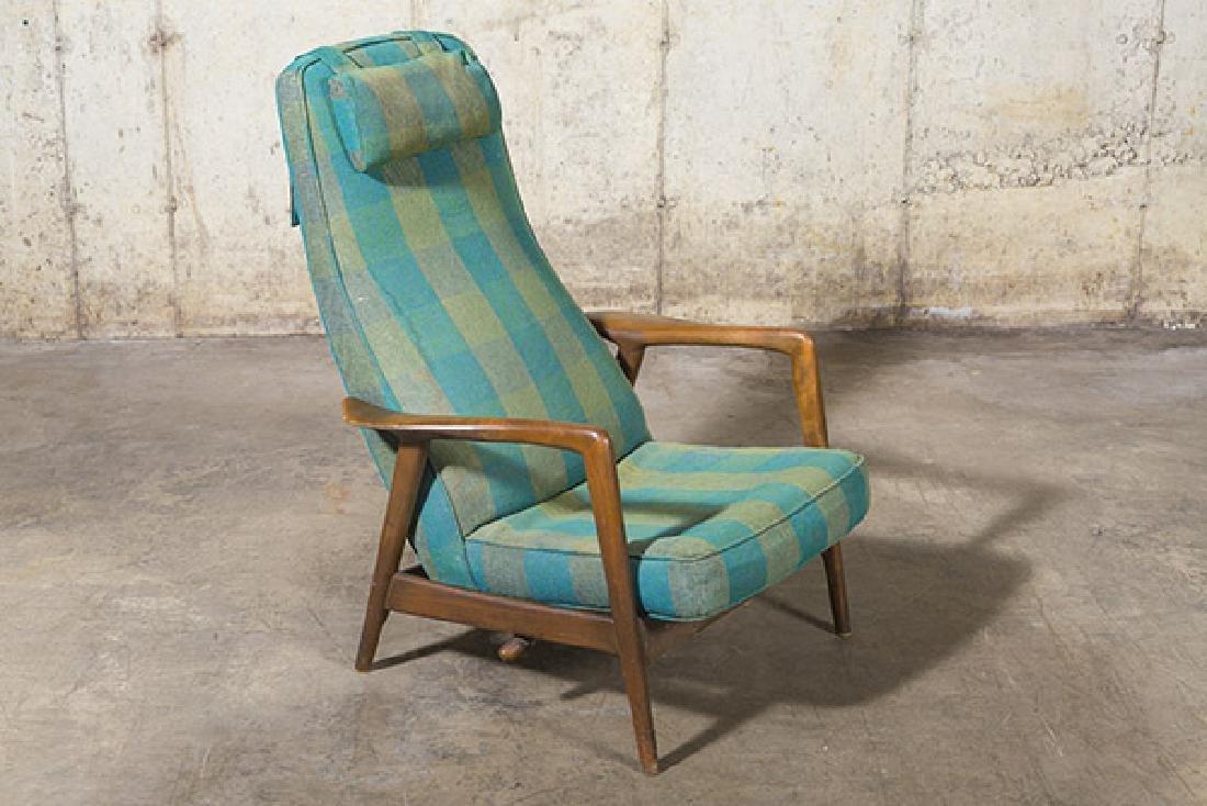 IB Kofod Larsen Reclining Lounge Chair - 7