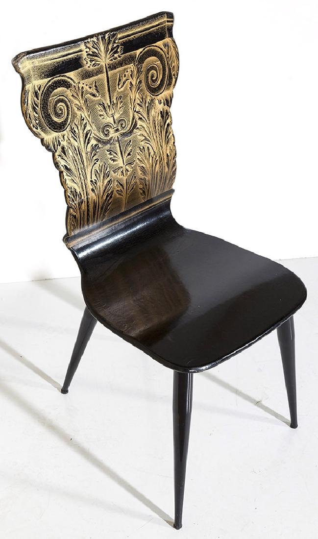 Piero Fornasetti Column Chair
