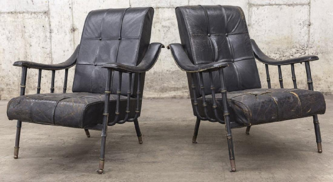 Jacques Adnet Lounge Chairs