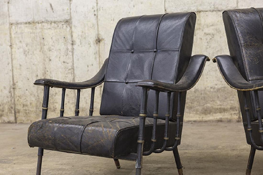 Jacques Adnet Lounge Chairs - 3