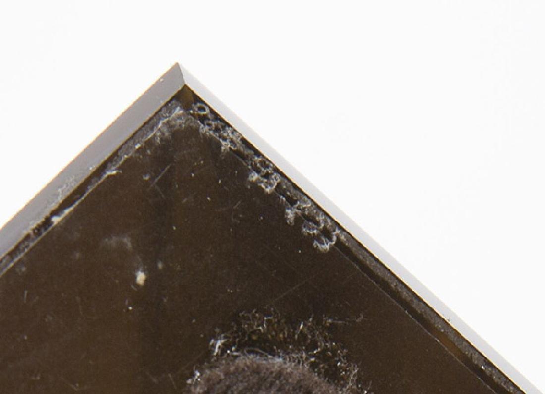 Art Glass Triangle Sculpture - 10