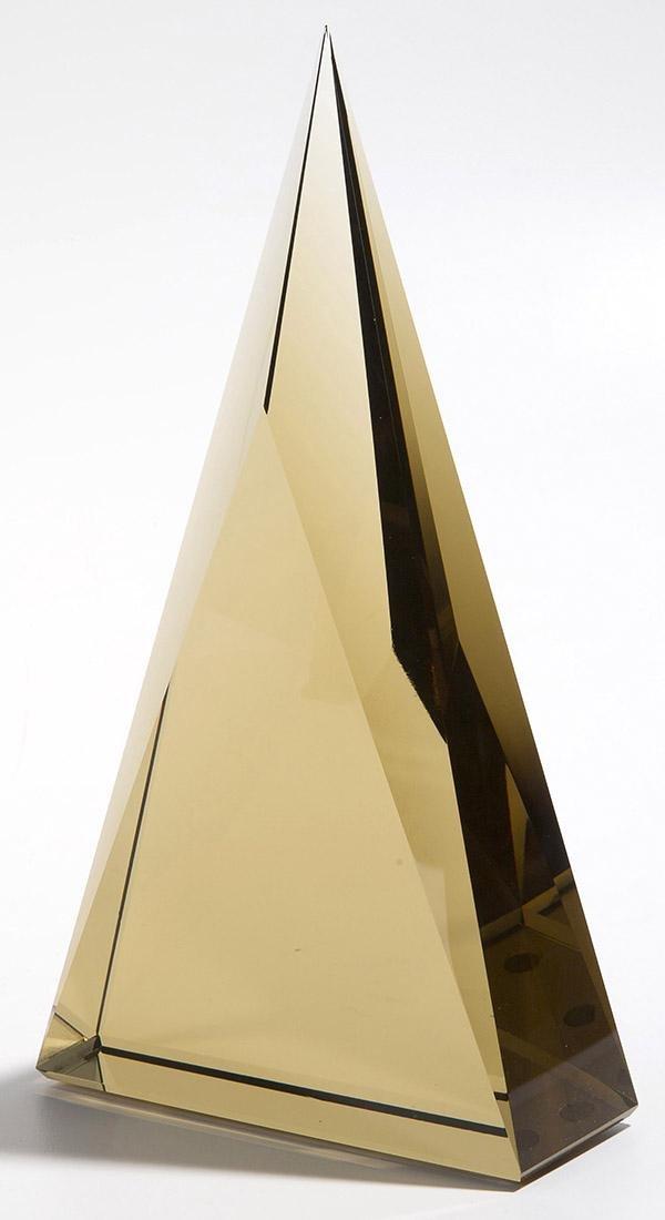 Art Glass Triangle Sculpture