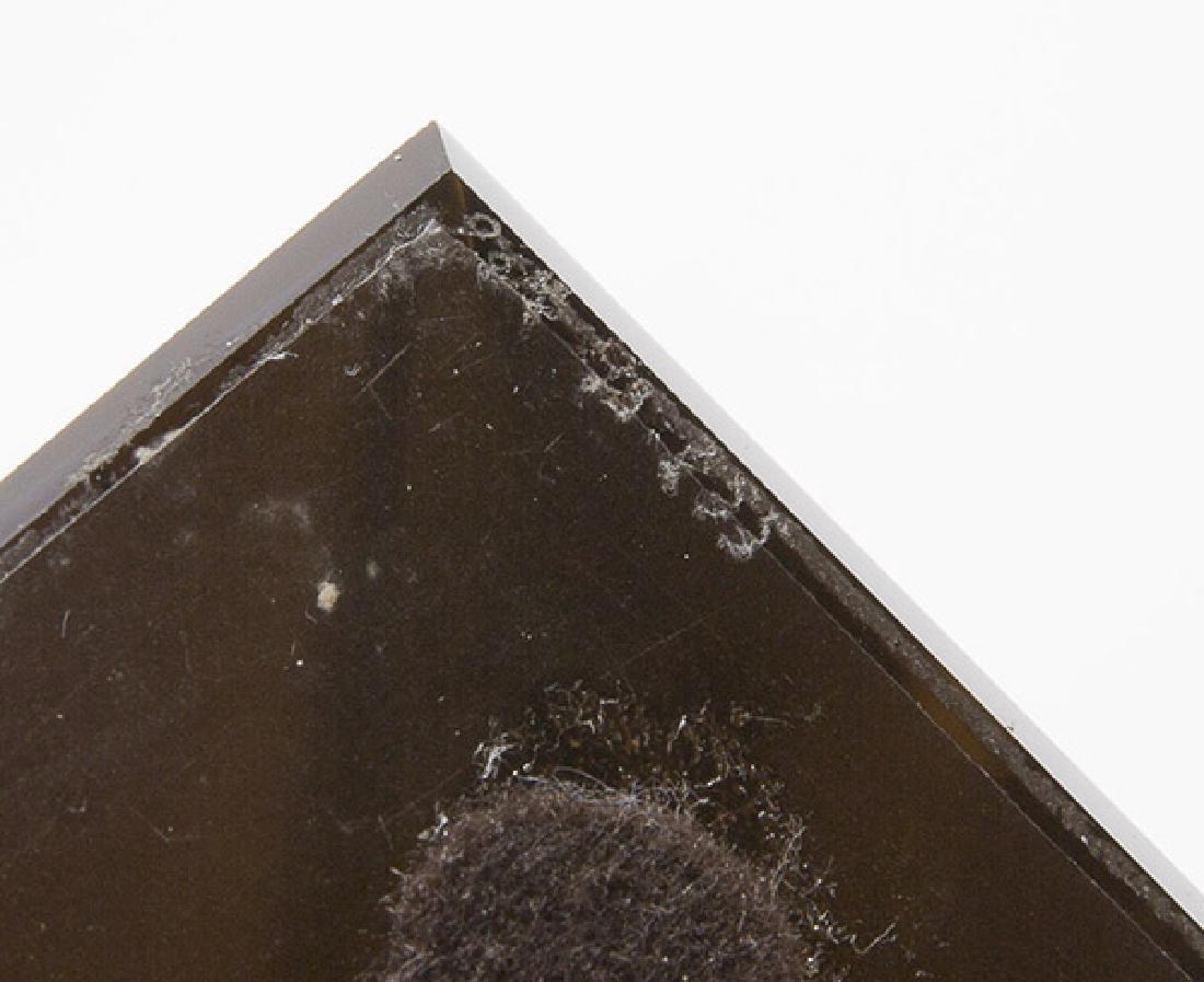 Art Glass Triangle Sculpture - 7