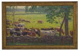 Outstanding Edward Charles Volkert (1871-1935) Oil
