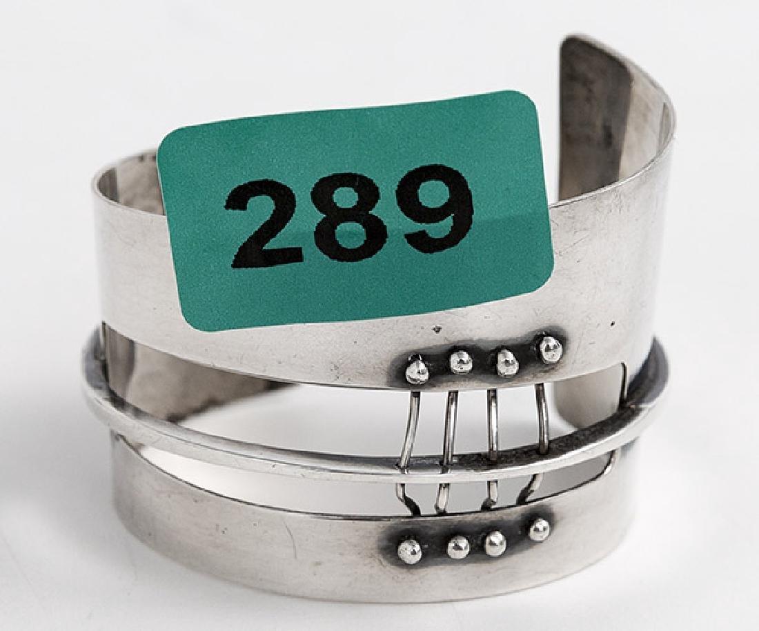 Ed Wiener (1918-1991) Sterling Silver Bracelet - 7