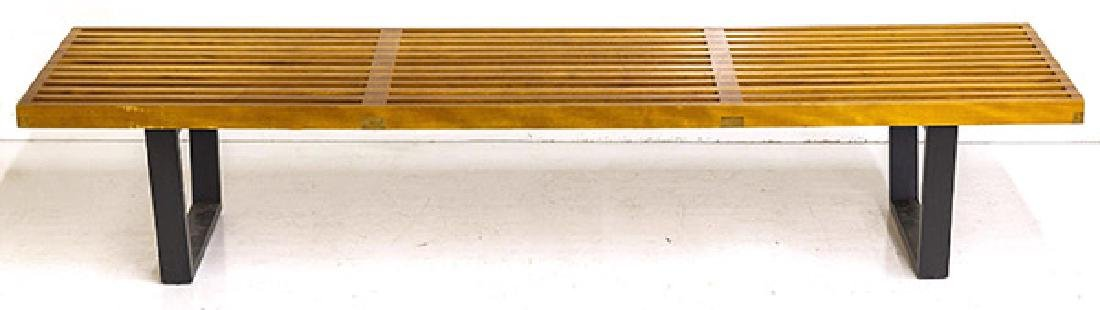 Early George Nelson and Associates Slat Bench