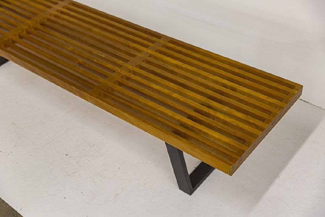 Early George Nelson and Associates Slat Bench - 3