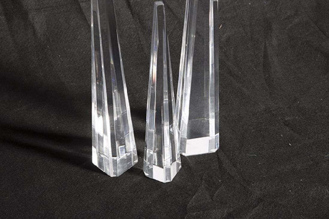 Lucite Obelisks - 2