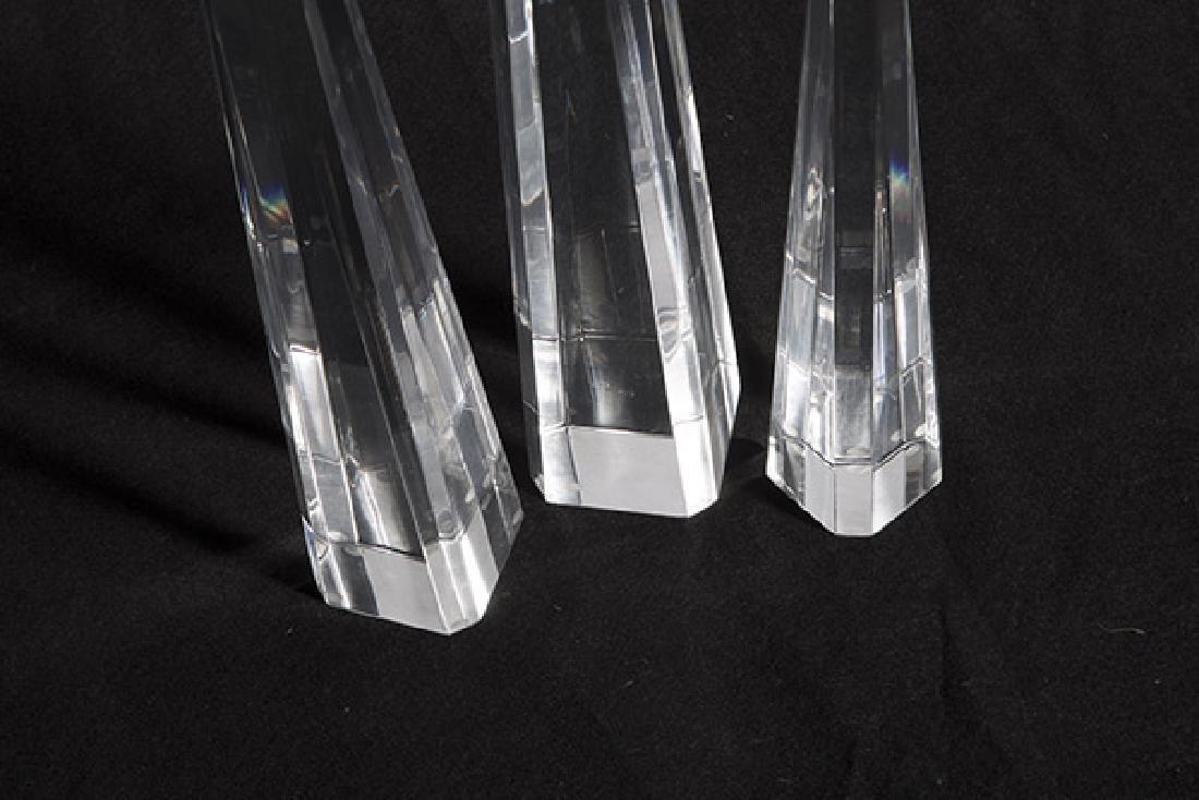 Lucite Obelisks - 5