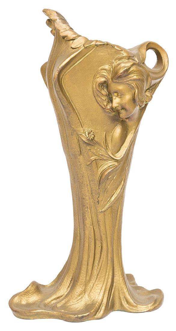 Art Nouveau Gilded Vase