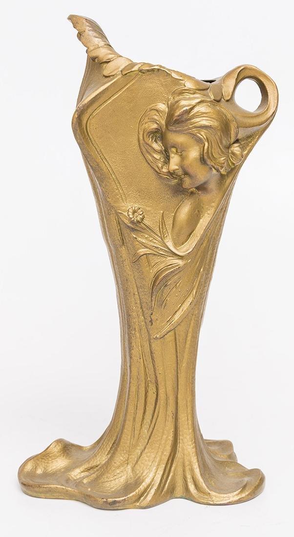 Art Nouveau Gilded Vase - 8